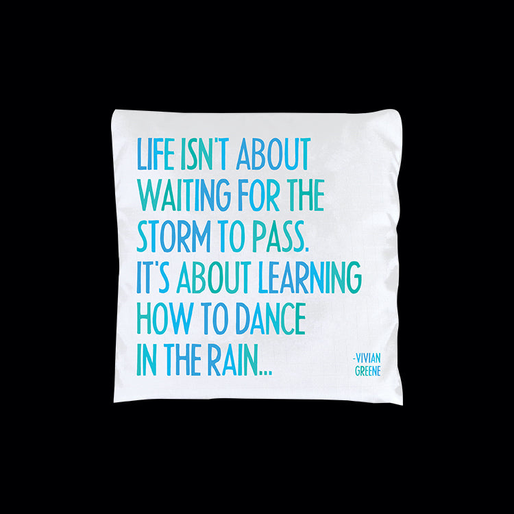 """dance in the rain"" reusable bag"