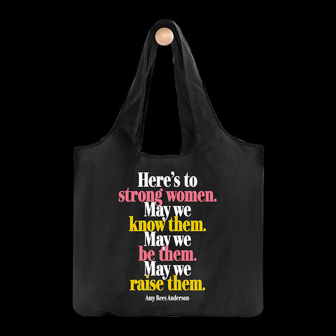 """strong women"" reusable bag"