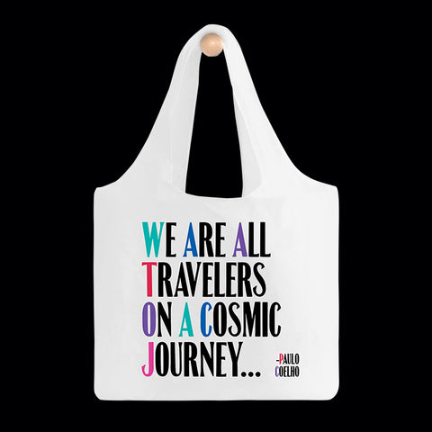 """cosmic journey"" reusable bag"