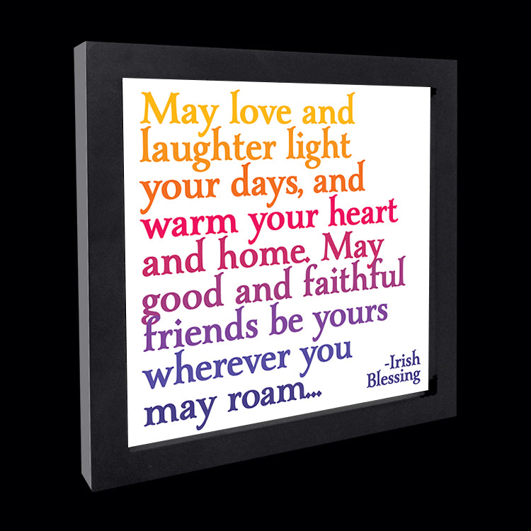 """may love and laughter"" card"