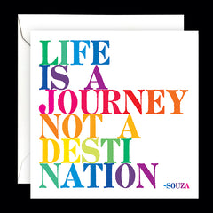 """life is a journey"" card"