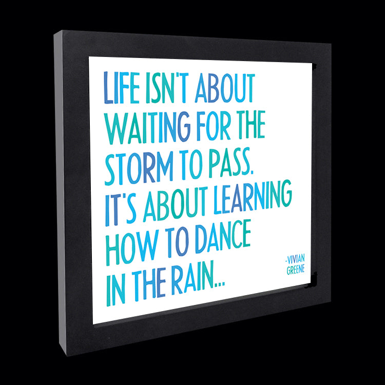 """dance in the rain"" card"