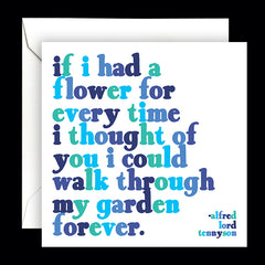 """if i had a flower"" card"