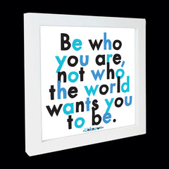 """be who you are"" card"