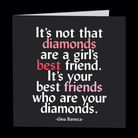 """best friends are diamond"" card"