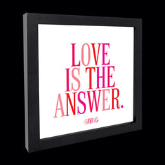 """love is the answer"" card"