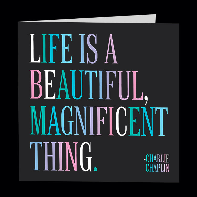 """life is beautiful"" card"