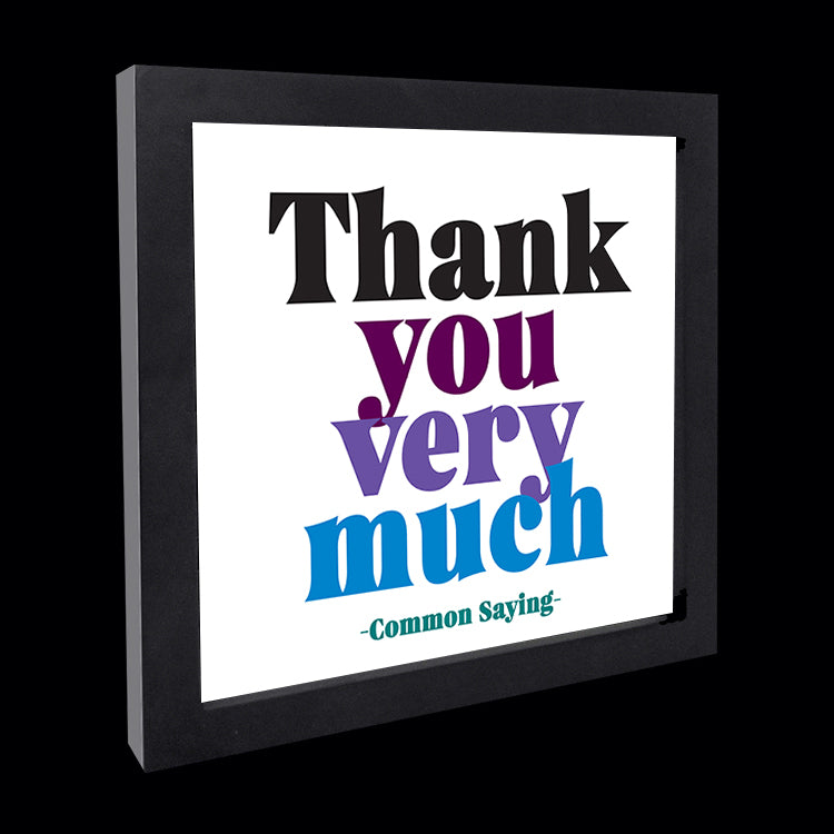 """thank you very much"" card"
