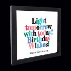 """light tomorrow with today!"" card"