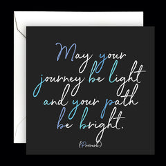"""journey be light"" card"
