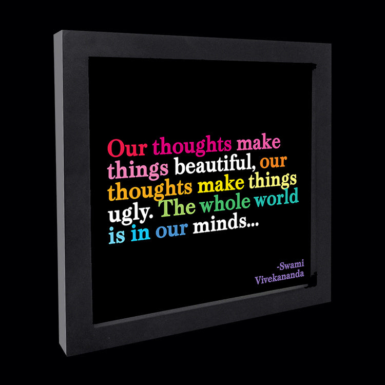 """thoughts make things beautiful"" card"