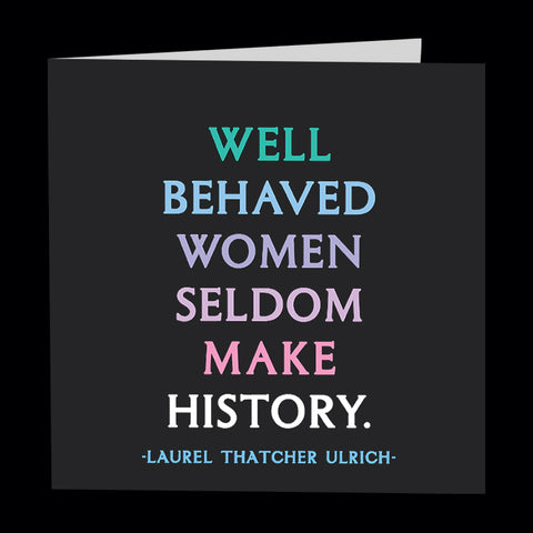 """well behaved women"" card"