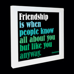 """friendship is when"" card"