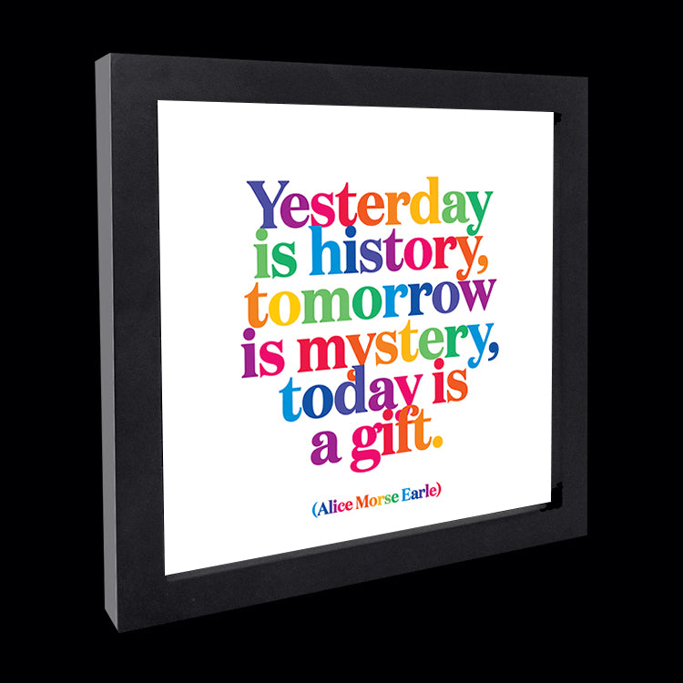 """yesterday is history"" card"