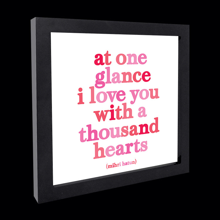"""at one glance"" card"