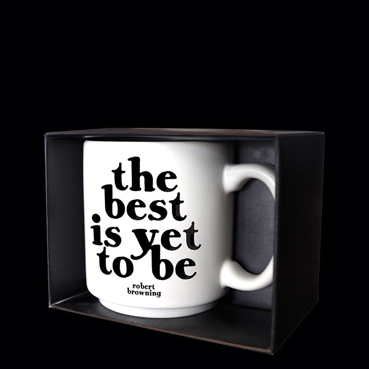 """the best is yet to be"" mini mug"