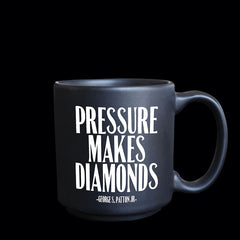 """pressure makes diamonds"" mini mug"