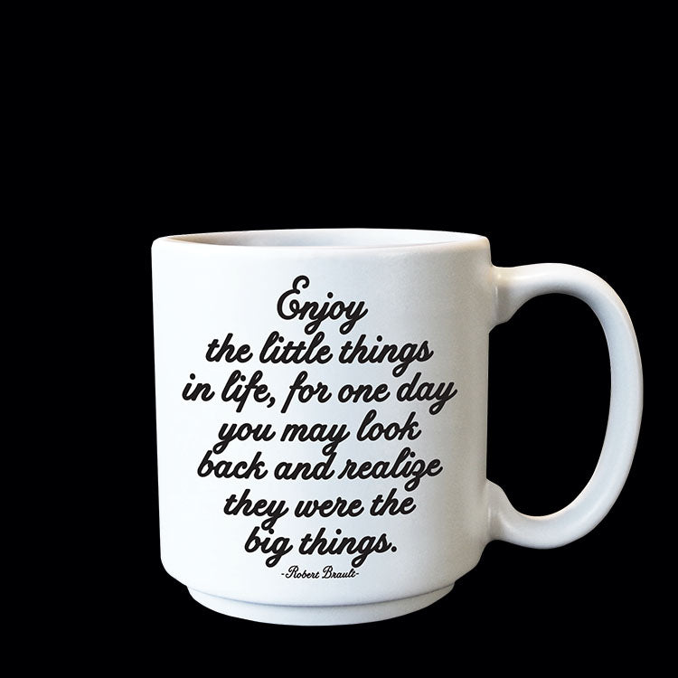 """enjoy the little things"" mini mug"