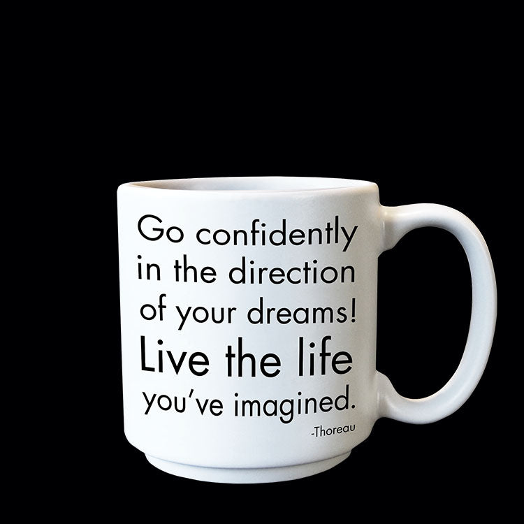 """go confidently"" mini mug"