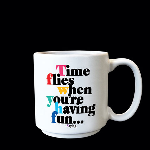 """time flies"" mini mug"
