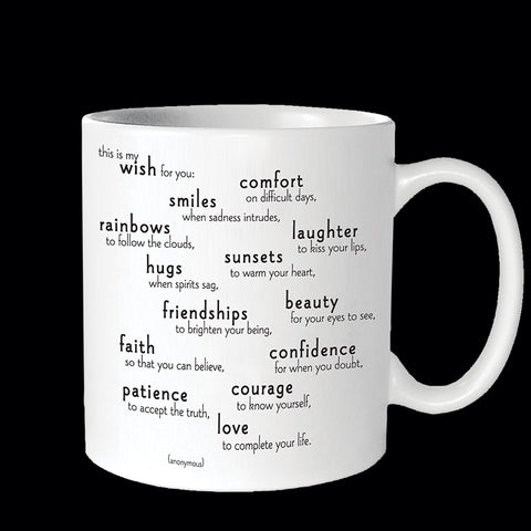 """my wish for you"" mug"