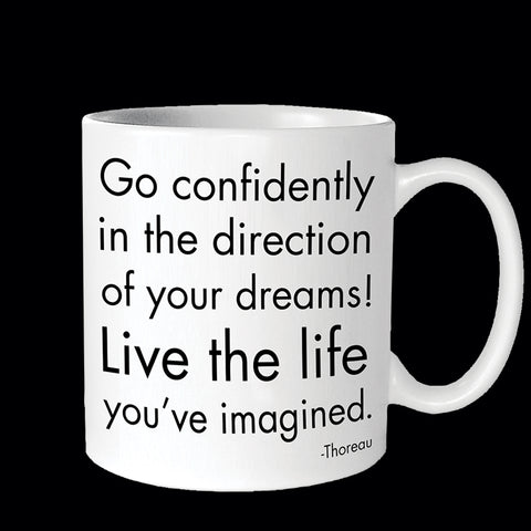 """go confidently"" mug"