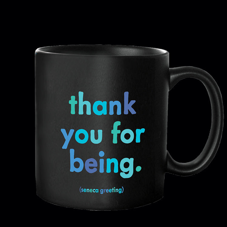 """thank you for being"" mug"