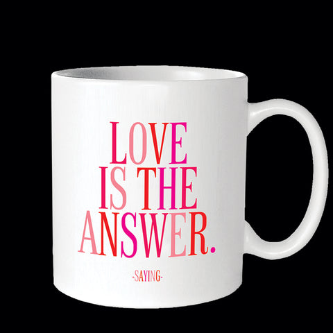 """love is the answer"" mug"