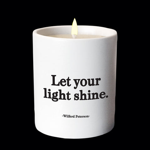 """let your light shine"" candle"