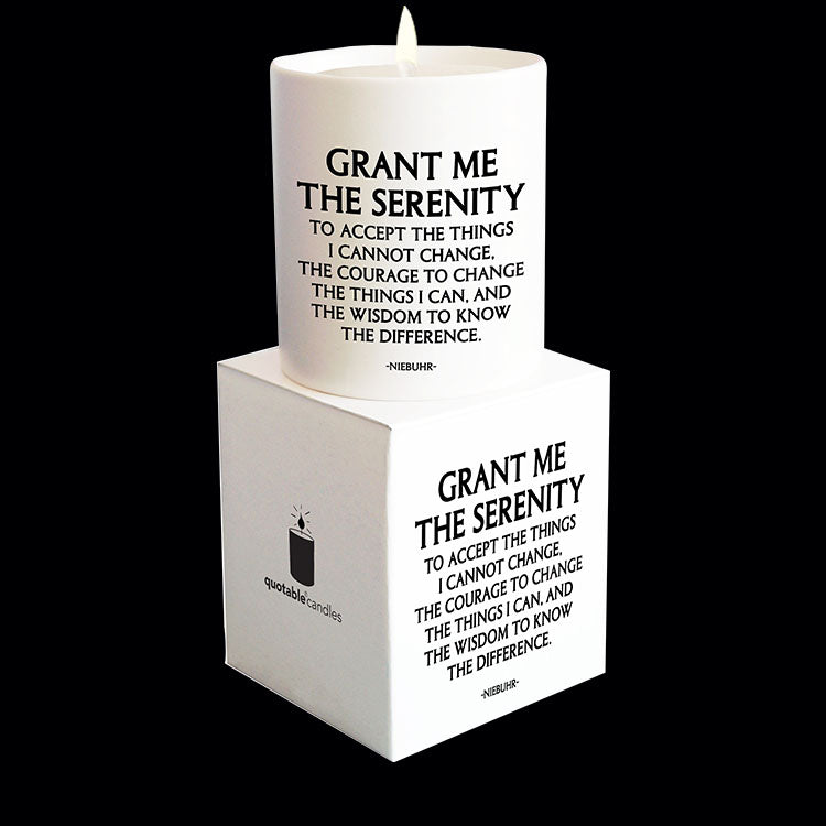 """grant me the serenity"" candle"