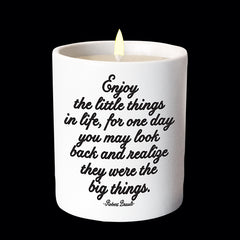 """enjoy the little things"" candle"