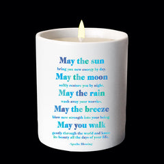 """may the sun"" candle"