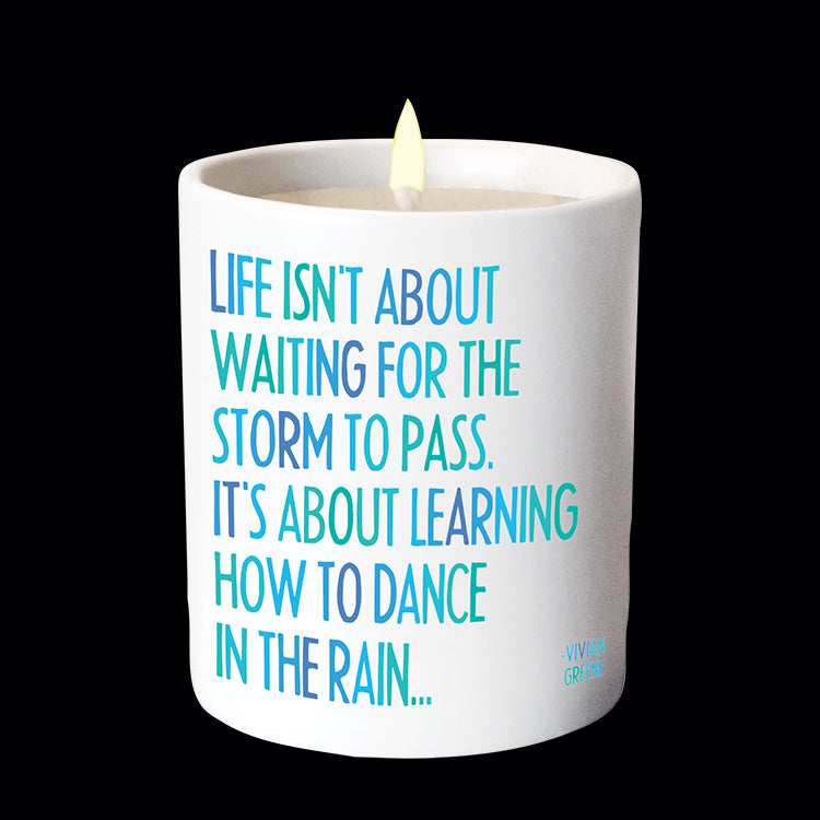 """dance in the rain"" candle"