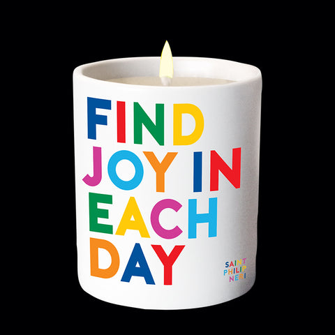"""find joy"" candle"