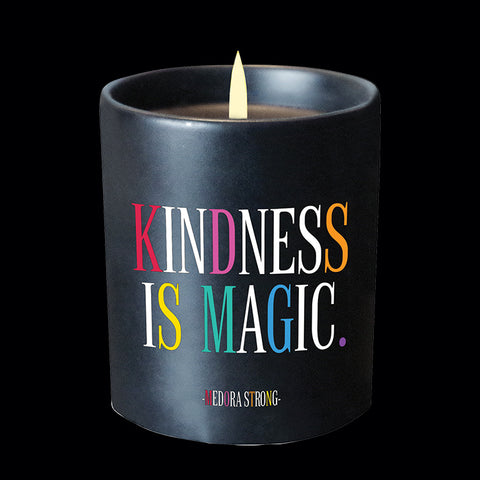 """kindness is magic"" candle"