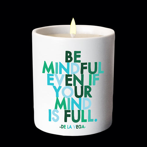 """be mindful"" candle"