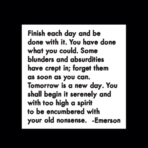 """finish each day"" magnet"