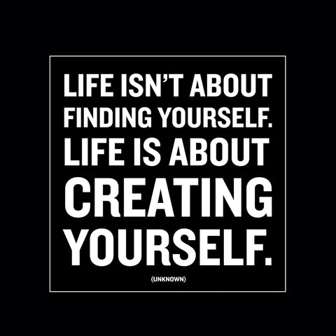 """creating yourself"" magnet"