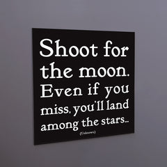 """shoot for the moon"" magnet"