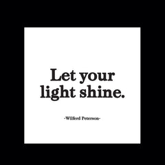 """let your light shine"" magnet"