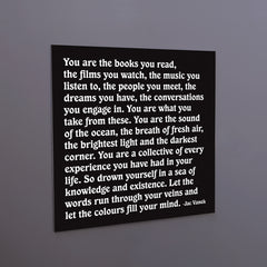 """you are the books you read"" magnet"