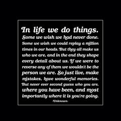 """in life we do things."" magnet"