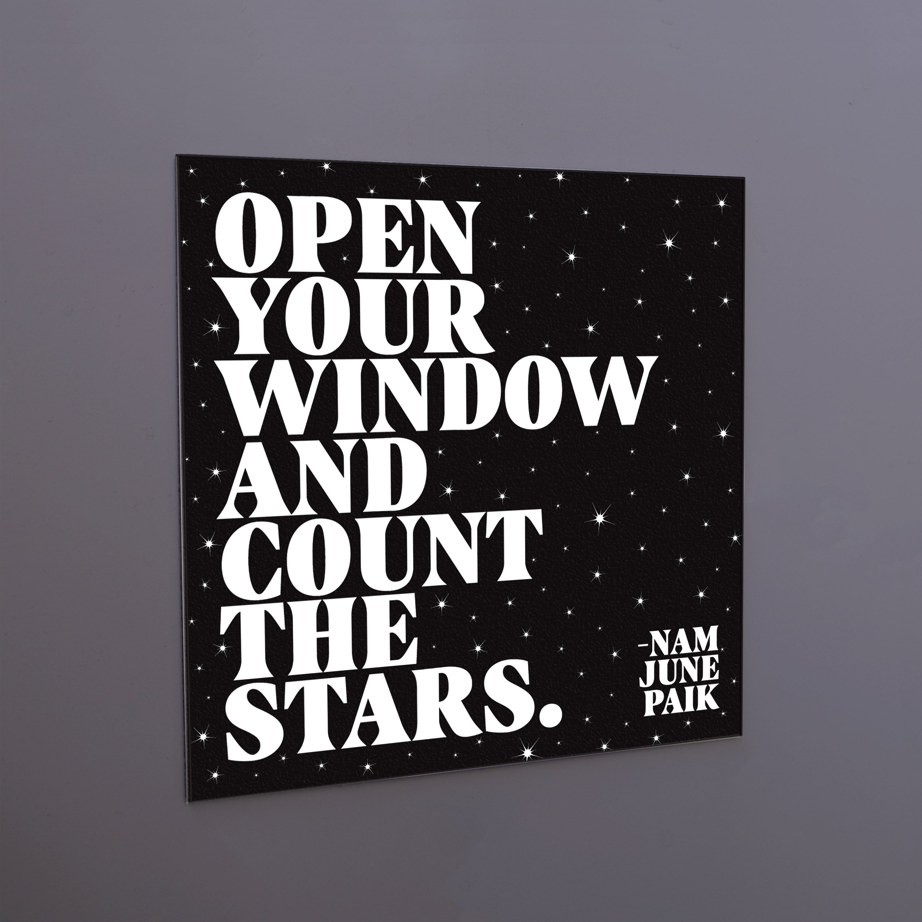 """open your window"" magnet"