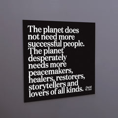 """the planet does not need"" magnet"
