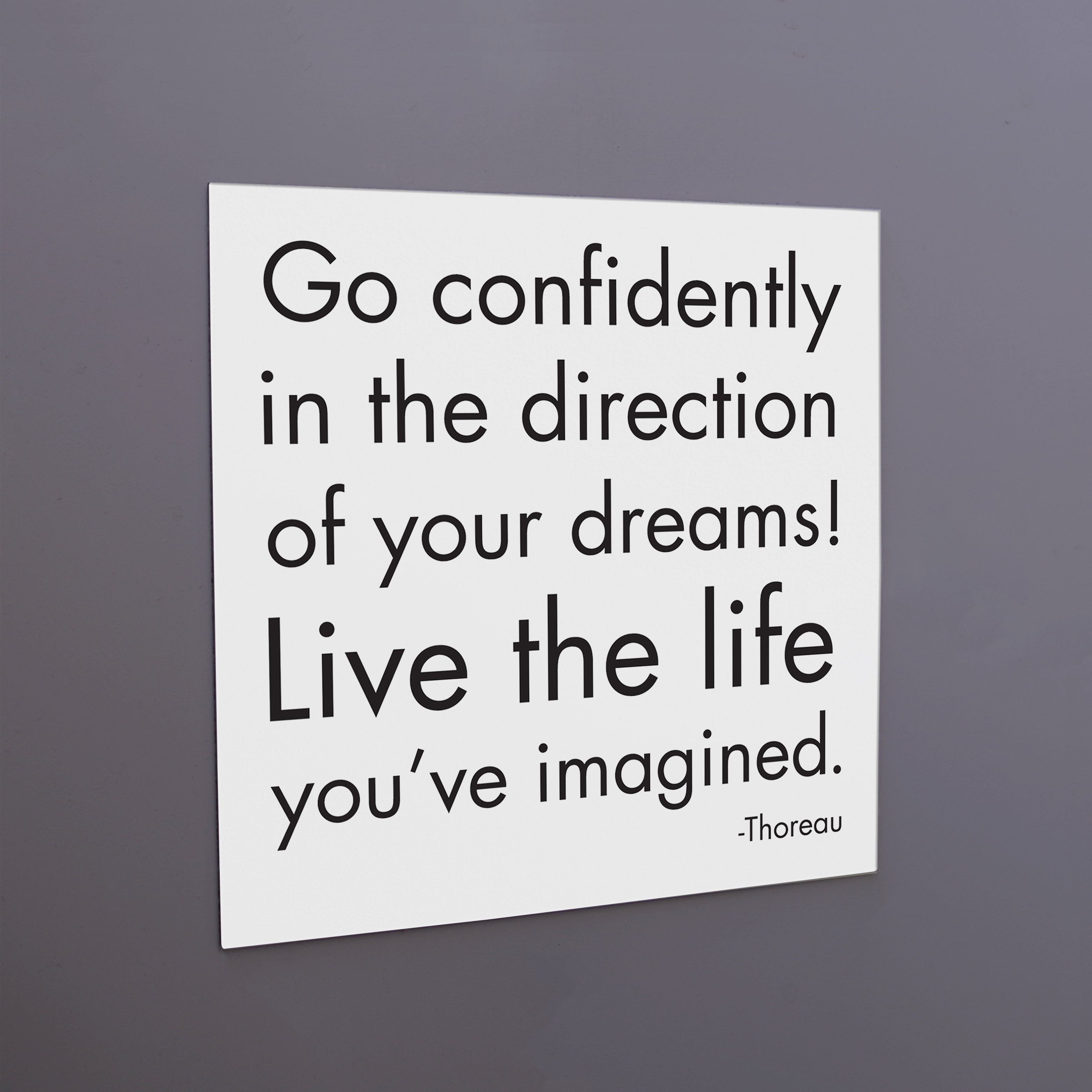 """go confidently"" magnet"