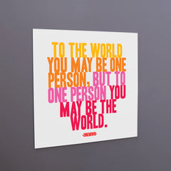 """to the world"" magnet"