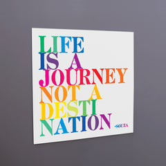 """life is a journey"" magnet"