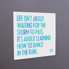 """dance in the rain"" magnet"