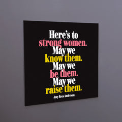 """strong women"" magnet"
