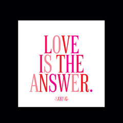 """love is the answer"" magnet"